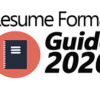 The Complete Resume Format Guide For 2020